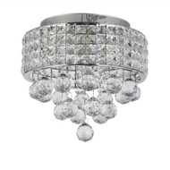 Zeev Lighting Palatial Collection Chrome Crystal Flush Mount FM60014/4/CH