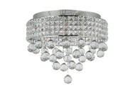 Zeev Lighting Palatial Collection Chrome Crystal Flush Mount FM60015/6/CH
