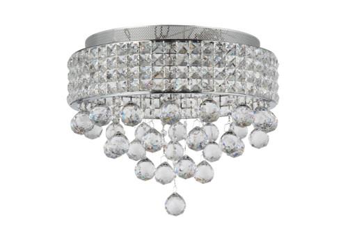 Zeev Lighting Palatial Collection Chrome Crystal Flush Mount FM60015/6/CH