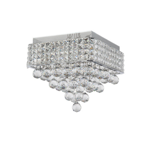 Zeev Lighting Palatial Collection Chrome Crystal Flush Mount FM60016/4/CH