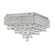 Zeev Lighting Palatial Collection Chrome Crystal Flush Mount FM60017/6/CH