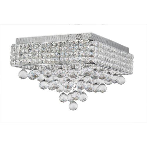 Zeev Lighting Palatial Collection Chrome Crystal Flush Mount FM60017/6/CH