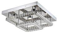 Zeev Lighting Ember Collection Chrome LED Flush Mount FM60021/LED/CH-RD