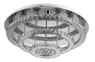 Zeev Lighting Ember Collection Chrome LED Flush Mount FM60022/LED/CH-RD