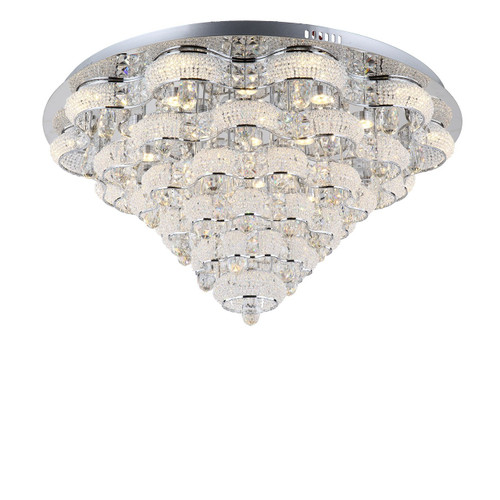 Zeev Lighting Imperial Collection Chrome LED Flush Mount FM60023/LED/CH