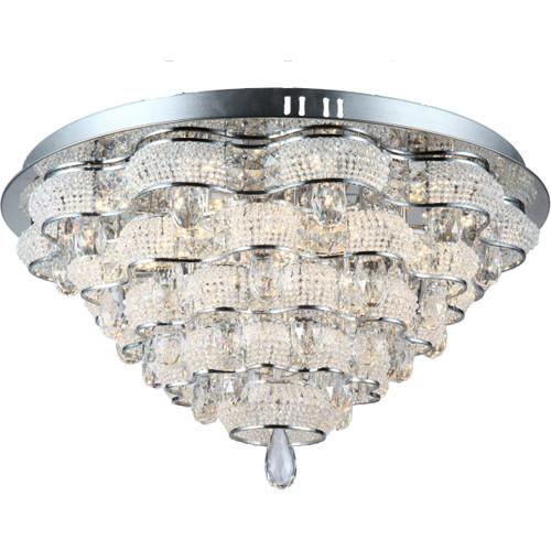 Zeev Lighting Imperial Collection Chrome LED Flush Mount FM60024/LED/CH
