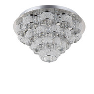 Zeev Lighting Imperial Collection Chrome LED Flush Mount FM60026/LED/CH