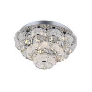 Zeev Lighting Imperial Collection Chrome LED Flush Mount FM60027/LED/CH