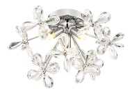Zeev Lighting Adelle Collection Chrome Flush Mount FM60045/3CH