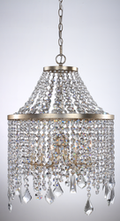 Zeev Lighting Palais Collection Silver Foil Antique Gold Chandelier MC20010/6/SL-AG-V