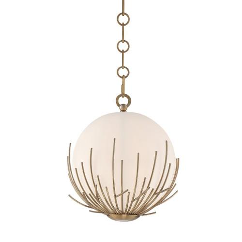Zeev Lighting Consus Collection Satin Brass Mini Pendant Ceiling Light MP40016/1/SB