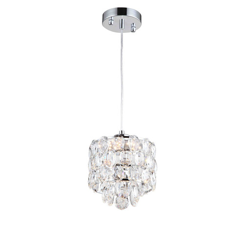 Zeev Lighting Belle Collection Chrome LED Mini Pendant Ceiling Light MP40019/LED/CH