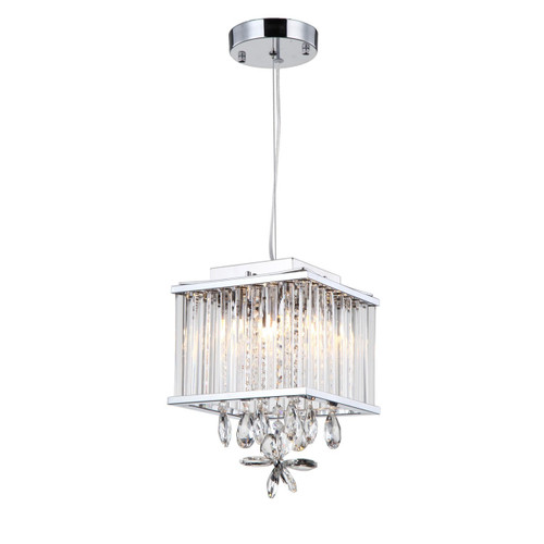 Zeev Lighting Easton Collection Chrome Crystal Pendant Ceiling Light MP40020/4/CH-CL
