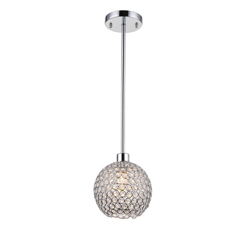 Zeev Lighting Kent Collection Chrome Mini Pendant Ceiling Light MP40021/1/CH