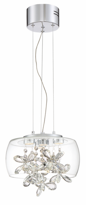 Zeev Lighting Destiny Collection Chrome LED Mini Pendant Ceiling Light MP40027/LED/CH
