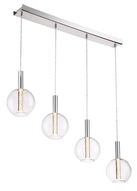 Zeev Lighting Empire Collection Chrome LED Mini Pendant Ceiling Light MP40030/LED/CH