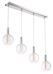 Zeev Lighting Empire Collection Chrome LED Mini Pendant Ceiling Light MP40030/LED/CH