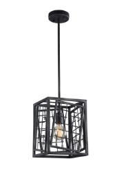 Zeev Lighting Plexus Collection Rustic Iron Mini Pendant Ceiling Light MP40031/1/RI