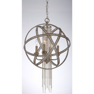 Zeev Lighting Cascade Collection Burnished Silver Leaf Pendant Ceiling Light P30011/4/SL-B