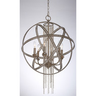 Zeev Lighting cascade Collection Burnished Silver Leaf Pendant Ceiling Light P30012/6/SL-B
