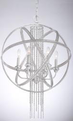Zeev Lighting cascade Collection Satin White Pendant Ceiling Light P30012/6/SW