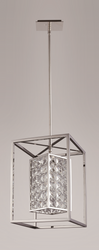 Zeev Lighting Struttura Collection Stainless Steel Medium Pendant Ceiling Light P30017/1/SS