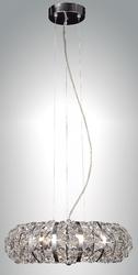 Zeev Lighting Eternity Collection Chrome Pendant Ceiling Light P30021/6/CH
