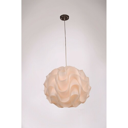Zeev Lighting Nami Collection Shaded Pendant Ceiling Light P30023XL/1/CH-WH