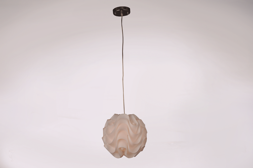 Zeev Lighting Nami Collection Shaded Pendant Ceiling Light P30025M/1/CH-WH