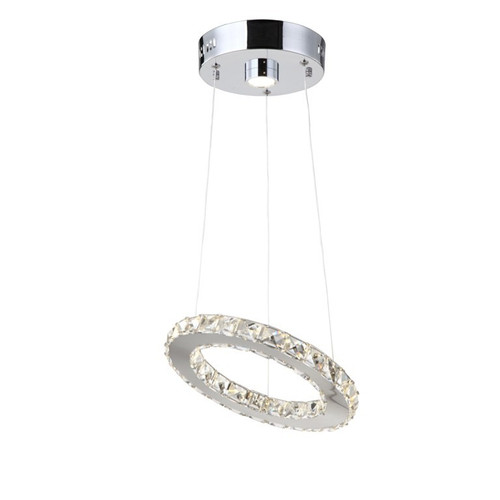 Zeev Lighting Blair Collection LED Pendant Ceiling Light P30029/LED/CH-RD