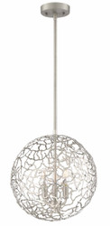 Zeev Lighting Helios Collection Satin Nickel Pendant Ceiling Light P30038/3/SN