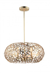 Zeev Lighting Helios Collection Satin Gold Pendant Ceiling Light P30039/6/SG