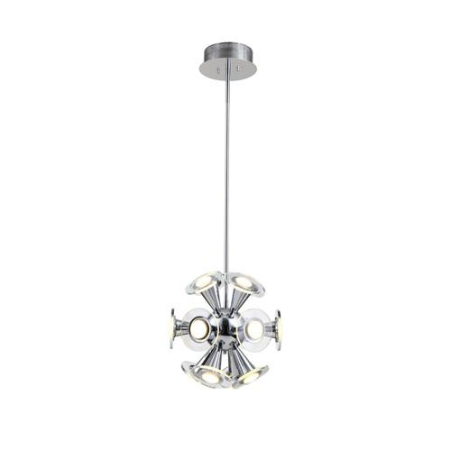 Zeev Lighting Quasar Collection Chrome LED Pendant Ceiling Light P30054/LED/CH