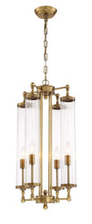 Zeev Lighting Regis Collection Aged Brass Pendant Ceiling Light P30068/4/AGB