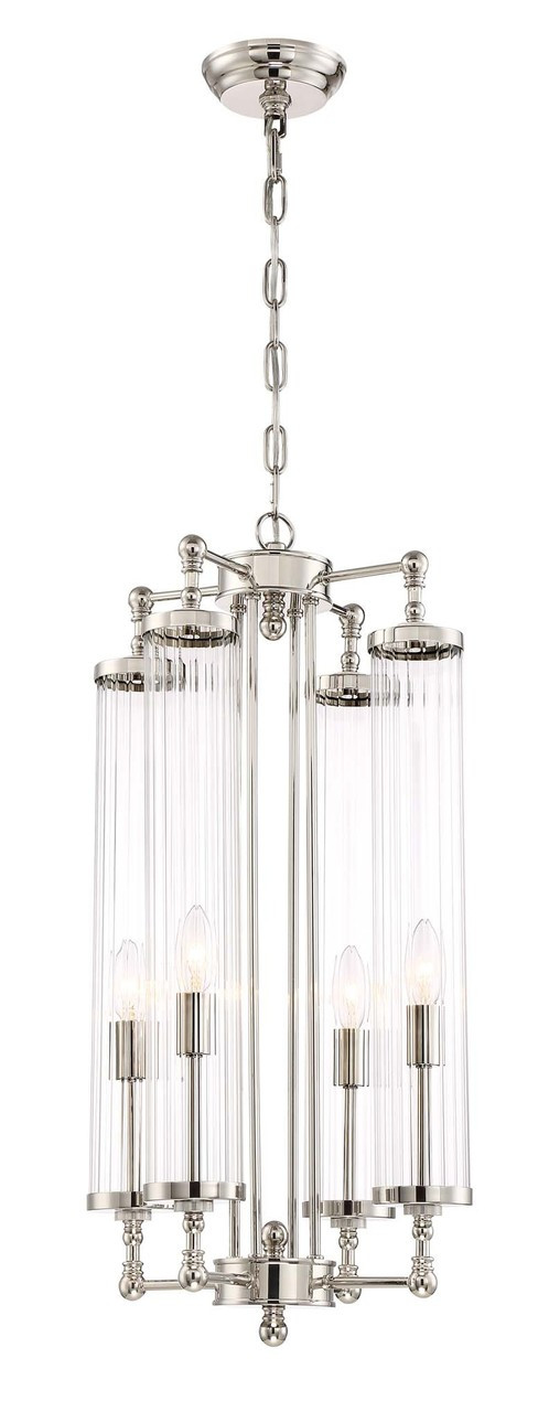 Zeev Lighting Regis Collection Polished Nickel Pendant