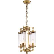 Zeev Lighting Regis Collection Aged Brass Pendant Ceiling Light P30070/4/AB