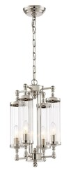 Zeev Lighting Regis Collection Polished Nickel Pendant Ceiling Light P30071/4/PN