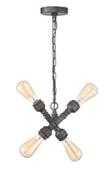 Zeev Lighting Peg Collection Rustic Iron Pendant Ceiling Light P30075/4/AI