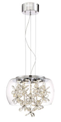 Zeev Lighting Destiny Collection Chrome LED Pendant Ceiling Light P30077/LED/CH