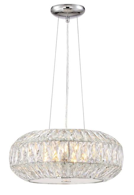 Zeev Lighting Lunar Collection Chrome Pendant Ceiling Light