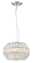 Zeev Lighting Lunar Collection Chrome Pendant Ceiling Light P30080/6/CH