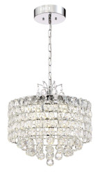 Zeev Lighting Belle Collection Chrome Pendant Ceiling Light P30081/LED/CH