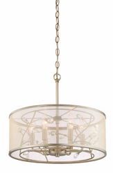 Zeev Lighting Vine Collection Burnished Silver Pendant Ceiling Light P30082/6/BNS