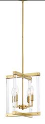 Zeev Lighting Regent Collection Polished Brass Pendant Ceiling Light P30084/4/PB