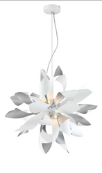 Zeev Lighting Bloom Collection Silver Pendant Ceiling Light P30085/6/S+MW