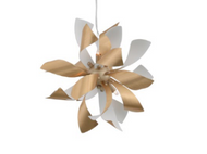 Zeev Lighting Bloom Collection Brushed Brass Pendant Ceiling Light P30086/6/BB+MW
