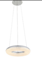 Zeev Lighting Orbit Collection Chrome LED Pendant Ceiling Light P30088/LED/CH