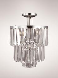 Zeev Lighting Raffinato Collection Polished Nickel Semi Flush mount SF50003/3+1/PN
