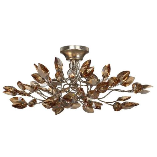 SF50004/4/SL-AGP/CC Zeev Lighting Misthaven Collection Antique Gold Semi Flush mount