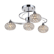 Zeev Lighting Kent Collection Chrome Semi Flush Mount SF50005/4/CH